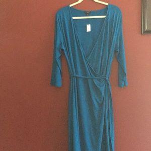 NWT Talbots 1X Faux Wrap Dress